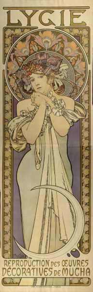 lygie reproduction des oeuvres decorat alphonse mucha as art print or hand painted oil. Black Bedroom Furniture Sets. Home Design Ideas
