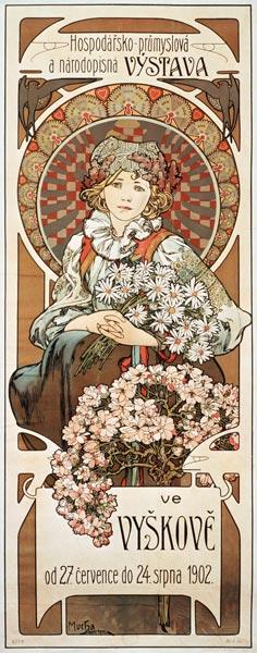 Image: Alphonse Mucha - Poster Vystava ve Vyskové (exhibition in