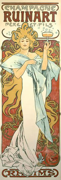 Poster advertising ''Ruinart'' champagne