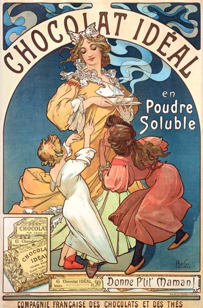 Poster advertising ''Chocolat Ideal''