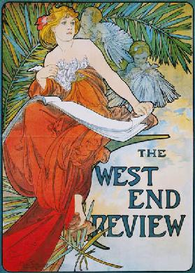 Poster advertising ''The West End Review''