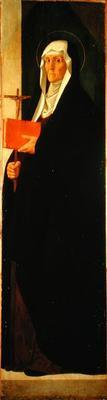 St. Clare, c.1485-90 (tempera on panel)