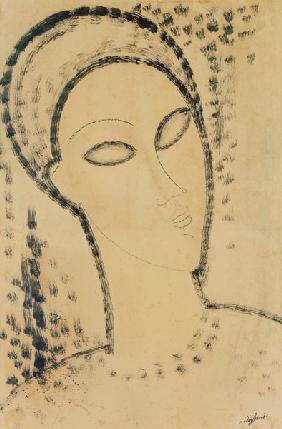 Head (pen & ink on paper)