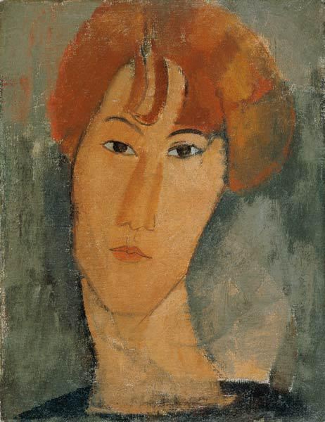 Red-haired young woman with ruff