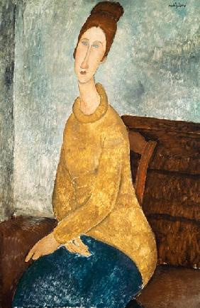 Jeanne Hebuterne in a Yellow Jumper