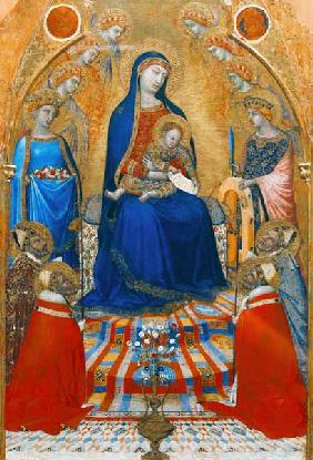 Enthroned Madonna