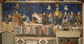 Allegory of Good Government (Cycle of frescoes The Allegory of the Good and Bad Government)
