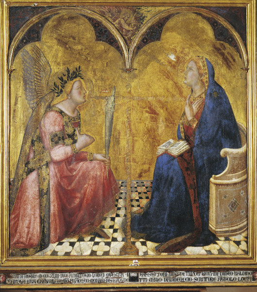 a paper on the painting annunciation of mary The annunciation shows the archangel gabriel entering the house of the virgin mary to the annunciation   art art with penetrating critical essays on.