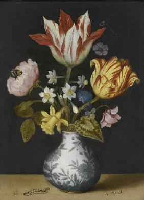 Still Life of Flowers in a Wan-Li Vase