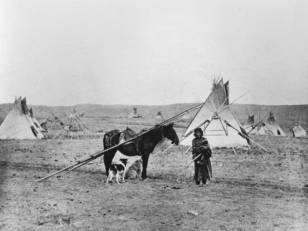 Comanche Indian (b/w photo)