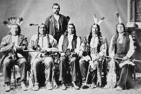 Delegation of Sioux chiefs, led by Red Cloud (1822-1909) in Washington D.C. to see President Ulysses