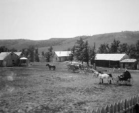 The Haylie Ranch, Crook County, Wyoming, c.1890 (b/w photo)