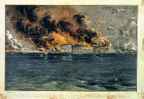 Bombardment of Fort Sumter, Charleston Harbour, 12th & 13th April 1861, pub. Currier & Ives