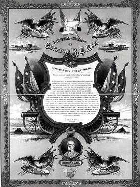 Farewell Address of General Robert E. Lee, published Burk and McFetridge