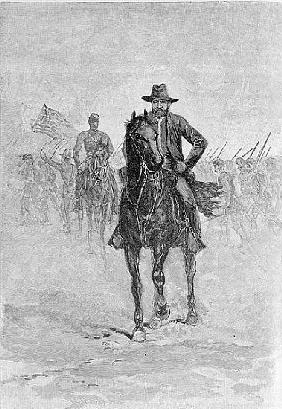 General Grant reconnoitering the confederate position at Spotsylvania court house; engraved by C.H.