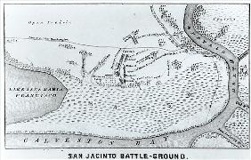 Ground Plan of the Battle of San Jacinto