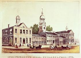 Independence Hall, Philadelphia, 1776, published Nathaniel Currier (1813-88) and James Merritt Ives