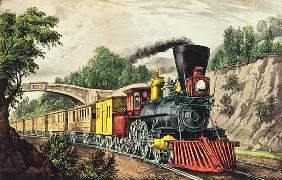 The Express Train, published Nathaniel Currier (1813-88) and James Merritt Ives (1824-95)