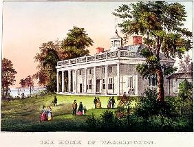 The Home of George Washington, Mount Vernon, Virginia, published Nathaniel Currier (1813-88) and Jam
