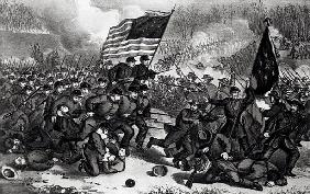 The Second Battle of Bull Run, Fought 29th August 1862, pub. Currier and Ives