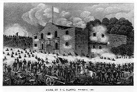 The Siege of the Alamo, 6th March 1836, from ''Texas, an Epitome of Texas History, 1897'', by Willia