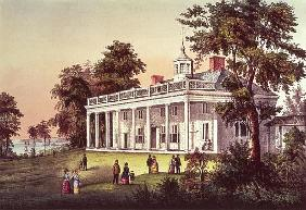 Washington''s Home, Mount Vernon, Virginia, pub. Currier & Ives