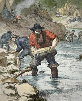 the gold rush 1849. American School