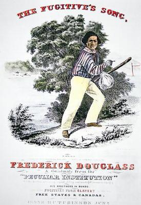 Poster for 'The Fugitive's Song' composed in honour of Frederick Douglass (1818-95) by Jesse Hutchin