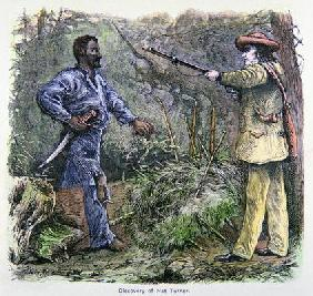 'The Discovery of Nat Turner' (1800-31) (colour litho)