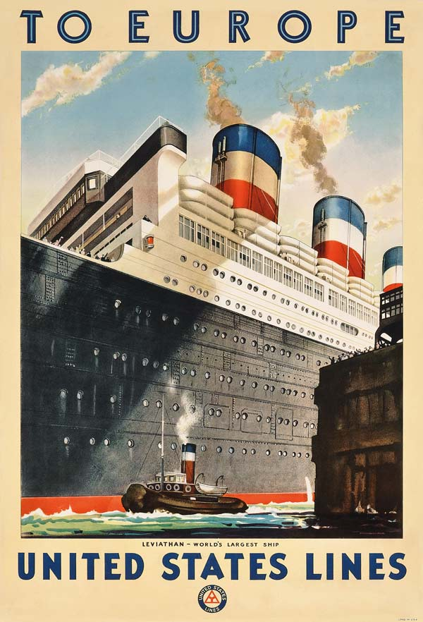 Poster advertising travel to Europe with - American School