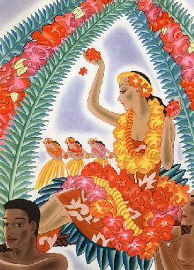 Hawaiian Hula Dancer at a Performance