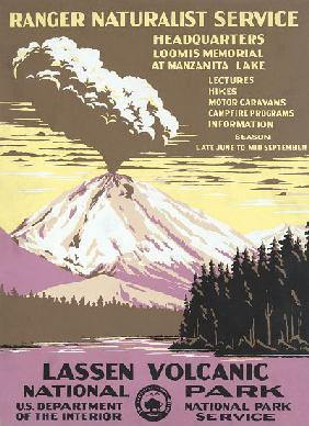 Lassen Volcanic National Park Travel Poster