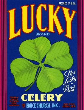 Lucky Brand Celery Fruit Crate Label