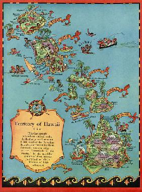 Vintage Tourist Map of Hawaii