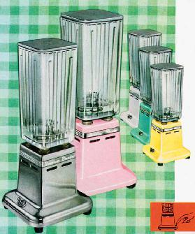 Five Vintage 1950s Kitchen Blenders