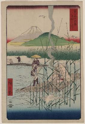 "The Sagami River (From the series ""Thirty-Six Views of Mount Fuji"")"
