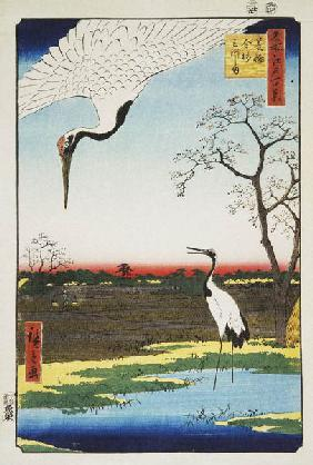 Mikawa Island, Kanasugi, and Minowa (One Hundred Famous Views of Edo)