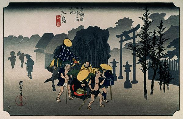 "Morning Mist at Mishima (from ""53 Stations of the Tokaido"")"