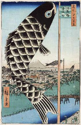 Suido Bridge and Surugadai (One Hundred Famous Views of Edo)