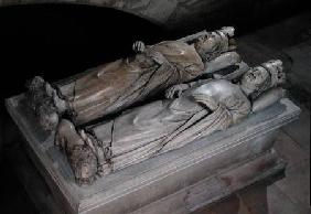 Effigies of Philippe VI (1293-1350) de Valois and Jean II (1319-64) Le Bon