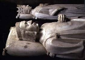 Effigies from the tomb of Charles V the 'Wise' (1338-80) c.1364