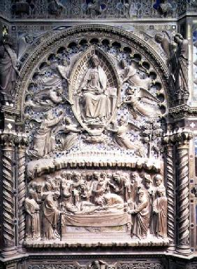 Tabernacle, detail showing the Death and Assumption of the Virgin