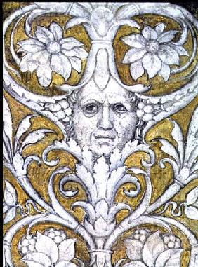 Self portrait incorporated into the decorative frieze of the Camera degli Sposi or Camera Picta
