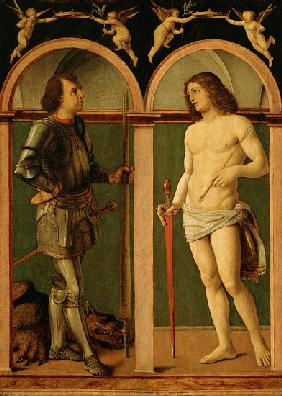 Saint George and Saint Sebastian