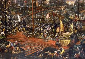 The Battle of Lepanto on 7 October 1571 (Detail)
