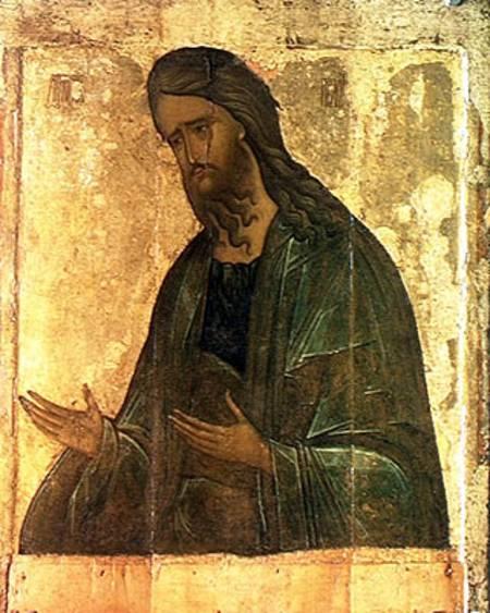 Icon Of St John The Baptist Andrej Rublev As Art Print