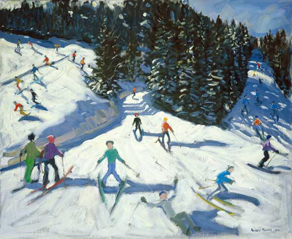 Mid-morning on the Piste, 2004 (oil on canvas)