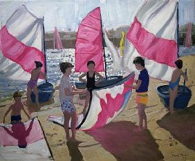 Sailboat, Royan, France, 1992 (oil on canvas)