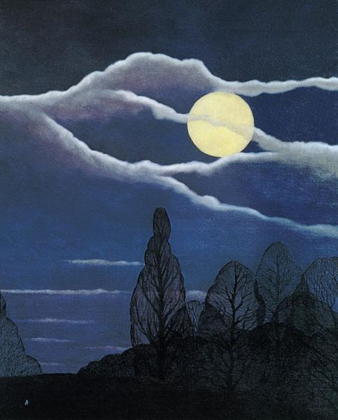 April Moon, 2004 (oil on canvas)