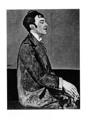 Portrait of the poet Osip Mandelstam (1891-1938)